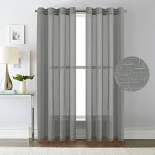 Semi Sheer Curtains Grommet Sheer Curtains With Miuco Embroidered Moroccan Trellis Design