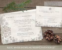 snowflake wedding invitations winter wedding invitation set printable snowflake winter