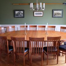 large round dining table custom cabinetry stigler s woodworks cincinnati oh