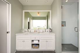 White Double Vanity Ideas Transitional Bathroom Simo Design - Bathroom mirrors for double vanity