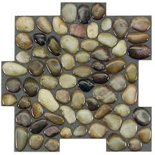 Lowes Pebble Rocks by Shop Peel U0026stick Mosaics Peel And Stick Rocky Road Linear Mosaic