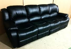 Four Seater Recliner Sofa 4 Seater Black Leather Recliner Sofa Catosfera Net
