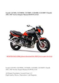 suzuki gsf400 bandit 1991 1997 gsf 400 service u0026 repair manual