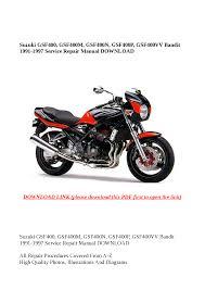 suzuki gsf400 bandit 1991 1997 gsf 400 service u0026 repair manual