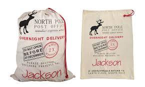 personalized santa sack personalized santa sack social monograms groupon