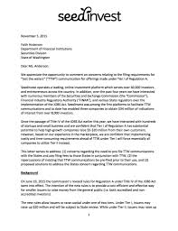 Intention Letter by Save Regulation A Seedinvest