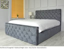 Grey Fabric Ottoman Bed Details About Ella Ottoman Storage Bed Upholstered In Chenille Or