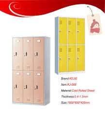 high quality gym metal 6 door storage cabinets metal locker