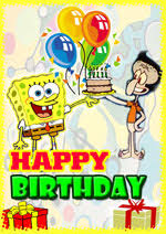 card invitation design ideas spongebob printable birthday cards