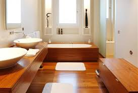 charming bathroom designs with wooden elements for cozy atmosphere