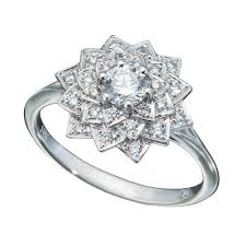 alternative wedding rings diamond cluster ring in snowflake pattern christopher duquet