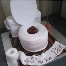 guys would you have this cake in form of a u201ctoilet with u201d as