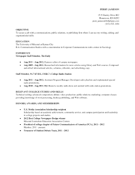 Public Relations Resume Examples by Resume Examples For College Student Free Resume Example And