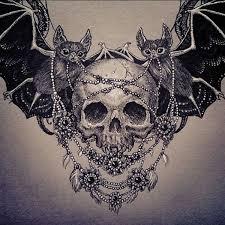 collection of 25 skull bat wings memorial
