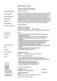 Sample Dentist Resume by Dental Office Manager Resume 1 Dental Uxhandy Com