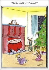 Dirty Santa Meme - fat santa cartoon