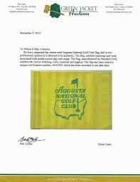 Masters Flag Lot Detail Augusta National Golf Club Masters Course Flown Pin