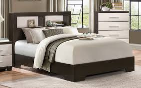 homelegance pell low profile storage bookcase bedroom set two