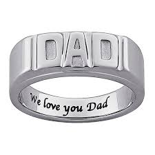 mens metal rings images Personalized men 39 s stainless steel engraved quot dad quot ring jpeg