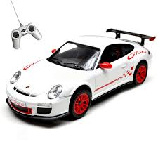 porsche toy car porsche gt3 rs 1 24 radio controlled car white or orange amazon