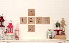 scrabble tile love you valentine u0027s mantel the kim six fix