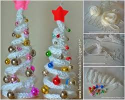 diy easy ribbon bead christmas tree ornament