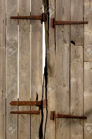 Wooden Barn Door by Rustic Wooden Barn Door With Iron Hinges Stock Photo Picture And