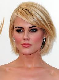 easy care hairstyles for women short blonde bob hairstyle with side swept bangs for 2014 pretty
