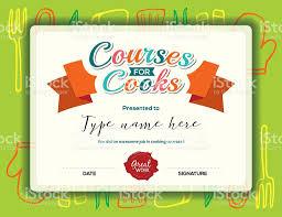 cours de cuisine pour enfant certificat modèle des cours de cuisine pour les enfants cliparts
