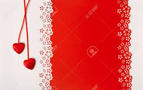 valentine day hearts red background empty greeting card