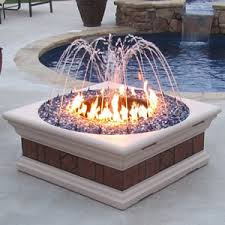 Fire Pit With Water Feature - now this is interesting a fire pit with a fountain amazing