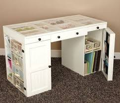 Craft Desk With Storage Craft Desk Plans Black Steel Cup Drawer Handle White Wooden Corner