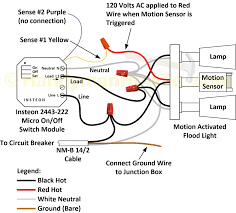 motion sensor flood light wiring diagram outdoor light sensor wiring