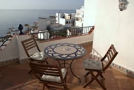 The Terrace Mediterranean Kitchen - house with sea view in la caleta townhouse by the sea