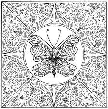 butterfly lace mandala coloring page favecrafts com