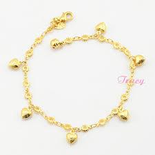 trendy womens 18k yellow gold filled bracelet chain
