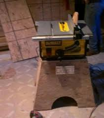 diy table saw stand with wheels dewalt jobsite saw stand options tools equipment contractor talk