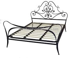 Metallic Bed Frame Metal Bed Frame With Wooden Slats Purchasing Souring Ecvv