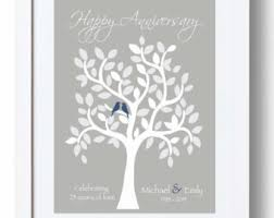 25th anniversary gifts for parents 25 year anniversary gift 25th anniversary print