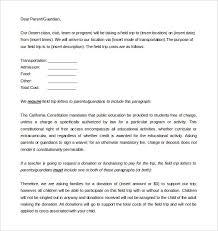 9 parent letter templates u2013 free sample example format download