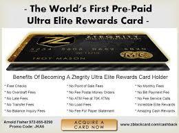 elite prepaid card ztegrity black mastercard ultra elite rewards