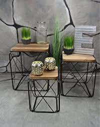 design beistelltische en casa 3er set design beistelltische rund in beton optik