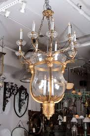 1930s Chandelier by 1930s Oversized Bronze And Glass Bell Jar Chandelier From The