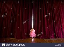 Ballerina Curtains Ballerina 4 6 With Fairy Wings Peeking Out Gap In Stage