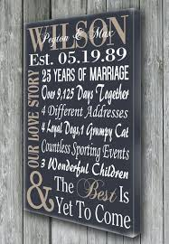 creative anniversary gifts 25th wedding anniversary gifts for wedding ideas