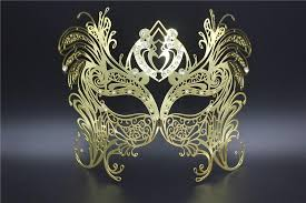 silver masquerade masks for women butterfly mask men women metal laser cut silver masquerade party
