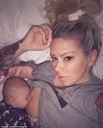 jenna jameson shares a photo of herself breastfeeding daily mail
