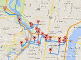 Septa Train Map A Data Scientist Just Made The Perfect Walking Map Of Philly