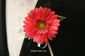 Coral Boutonniere Wedding Mens Flowers Boutonnieres