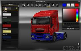 two tone paint for scs trucks ets 2 mods
